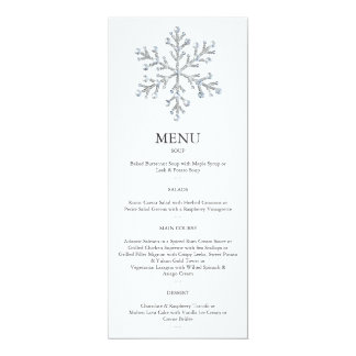 Winter Snowflake Menu 2 10 Cm X 24 Cm Invitation Card