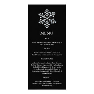 Winter Snowflake Menu (black)