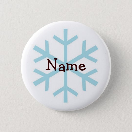 Winter Snowflake Personalised Gifts 6 Cm Round Badge
