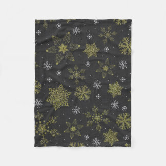 winter snowflake snow fleece blanket