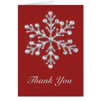 Winter Snowflake Thank You Card