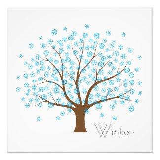 Winter Snowflake Tree Photographic Print