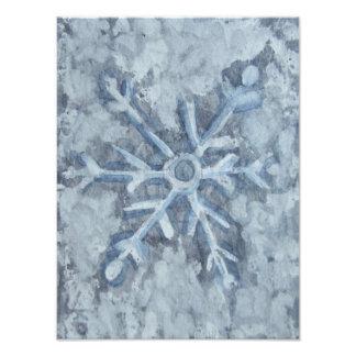 Winter Snowflake Watercolor Photo Print