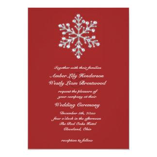 Winter Snowflake Wedding Invitation 2