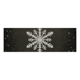 Winter Snowflake White Chalk Drawing Business Cards