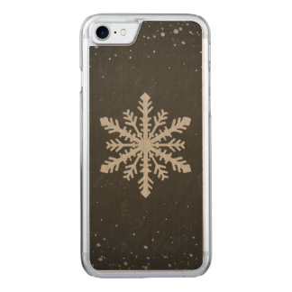 Winter Snowflake White Chalk Drawing Carved iPhone 7 Case