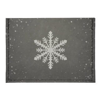 Winter Snowflake White Chalk Drawing Tyvek® Card Case Wallet