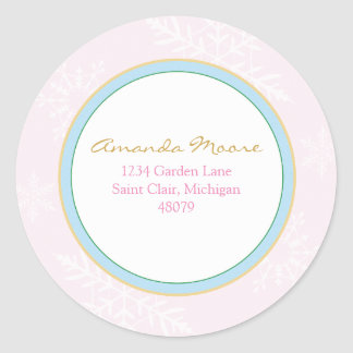 Winter Snowflakes Address Label or Favor Sticker