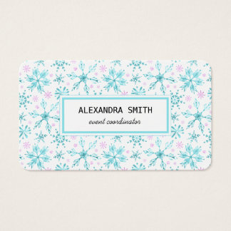 Winter Snowflakes Business Card