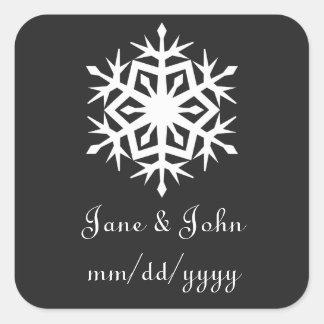 Winter Snowflakes in Black Sticker