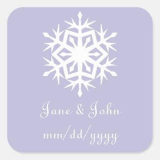 Winter Snowflakes in Lavender Sticker