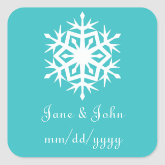 Winter Snowflakes in Turquoise Sticker
