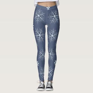 winter snowflakes leggings