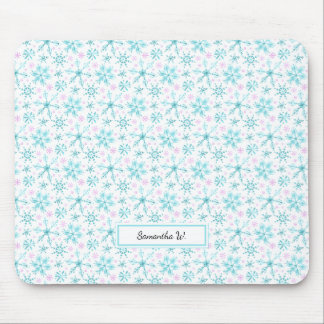 Winter Snowflakes Mouse Mat