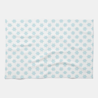 Winter Snowflakes Pattern Blue Holiday Design Tea Towel