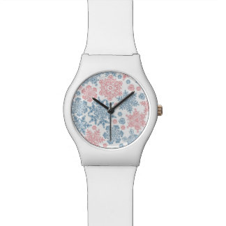 Winter Snowflakes Pattern Watches