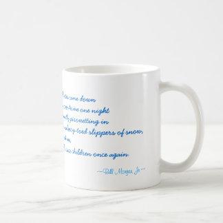 Winter Snowflakes Poem coffee mug