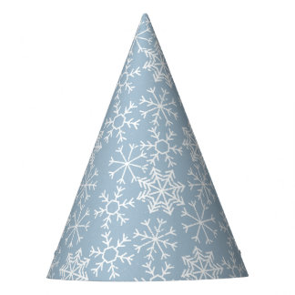Winter SNOWFLAKES seamless pattern + your ideas Party Hat