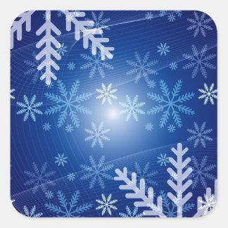 Winter Snowflakes Square Sticker