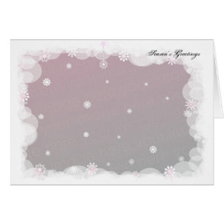 Winter Snowflakes. Template Card