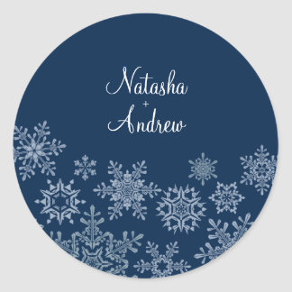 Winter Snowflakes Wedding Envelope Seal Sticker