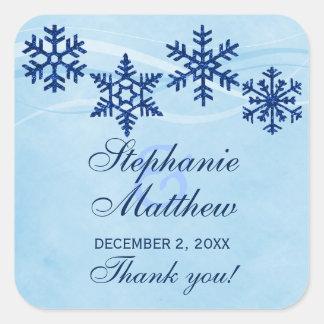 Winter Snowflakes Wedding Favor Stickers