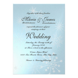 Winter Snowflakes Wedding Personalized Announcement