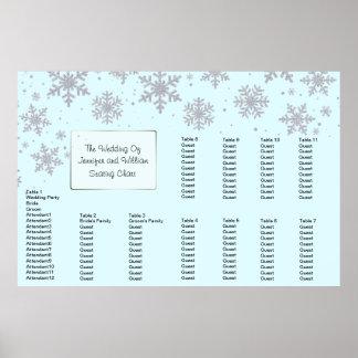 Winter Snowflakes Wedding Seating Chart