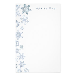 Winter Snowflakes Wedding Thank You Letterhead