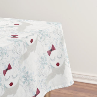 Winter Snowgirl TableCloth