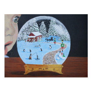 Winter Snowglobe Postcard