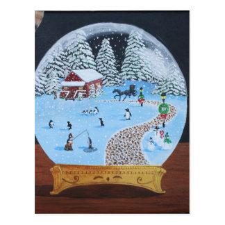 Winter Snowglobe Postcard