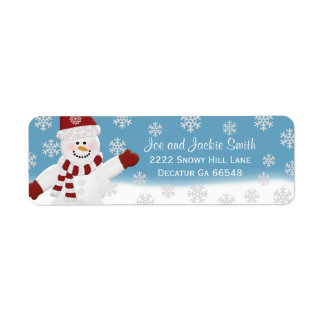 Winter Snowman Address Labels