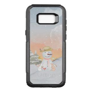 Winter Snowman animal snow animal illustration OtterBox Commuter Samsung Galaxy S8+ Case