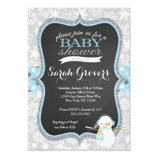 Winter Snowman Boy Baby Shower invitation
