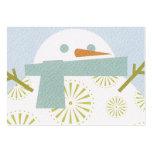 Winter Snowman Business Card