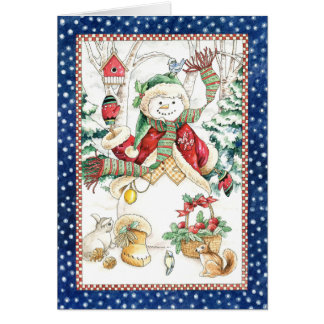 Winter Snowman Card