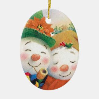 winter snowman christmas ornament