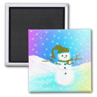 Winter Snowman Christmas Snow Creationarts Magnet