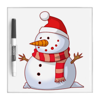 WINTER SNOWMAN DRY ERASE BOARD