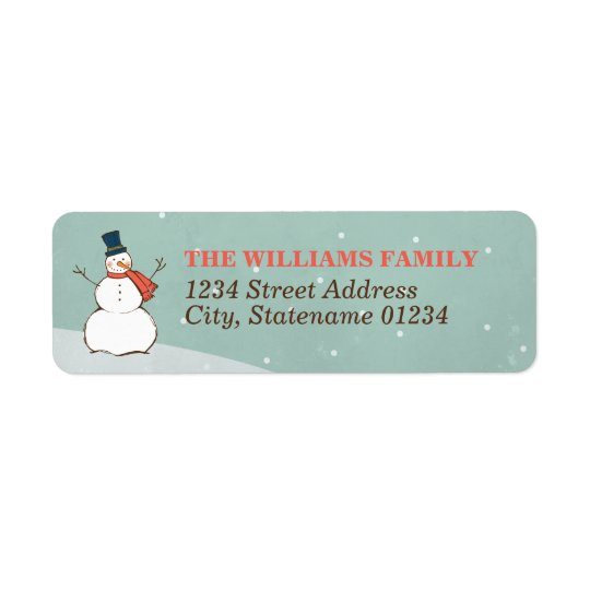 Winter Snowman | Holiday Address Labels