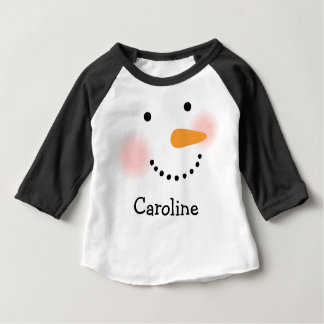 Winter Snowman | Holiday Baby T-Shirt