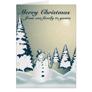 Winter Snowman Merry Christmas 2 Card
