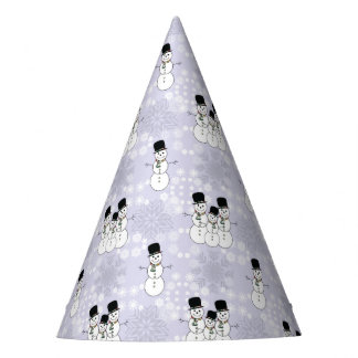 Winter Snowman Pattern Party Hat