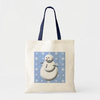 Winter Snowman Budget Tote Bag