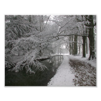 winter snowscape wall art photo print