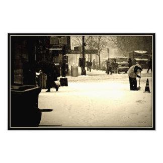 Winter Snowstorm in Brooklyn,NY Photo Print