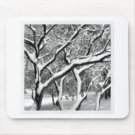 Winter Snowy Holiday Mouse Pad