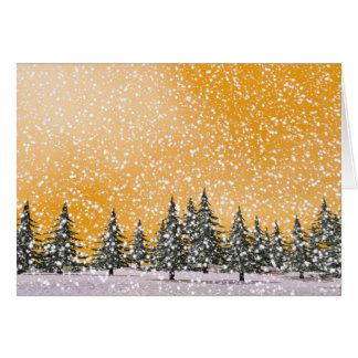 Winter snowy landscape card