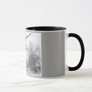 Winter Snowy Lane Ringer Mug